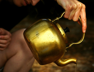 Golden Magic Teapot