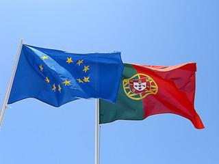 Bandeiras de Portugal e União Europeia