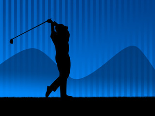 golf player background blue