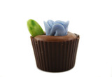 Delightful single handmade flowerpot chocolate. poster