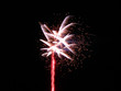 White and pink firework