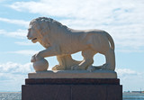 imperial lion guarding the gulf of finland poster