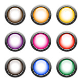 tech glossy web buttons with different colors poster