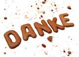 thank you, danke & merci 2 poster