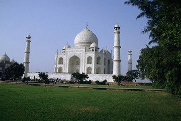 Taj Mahal, one of the seven wonders of the world.