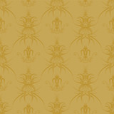 golden gothic repeat poster