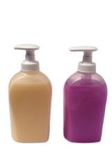 Bottles/containers of hand wash/handwash.Liquid soap.Hygiene