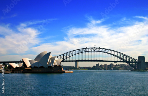 Poszter Sydney Opera House and Harbour Bridge..