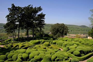 landscaped gardens, marqueyssac, france