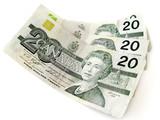 Twenty Dollar Bills - Canadian money poster