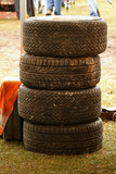 racing pit tires poster