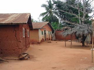 Village de brousse en Afrique