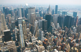 Aerial view from the Empire State Building poster