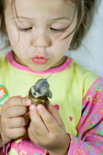 Girl and snail