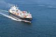 Leinwanddruck Bild - Cargo Boat with room in front