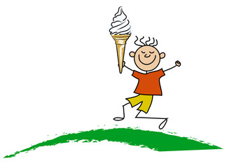 Boy with icecream