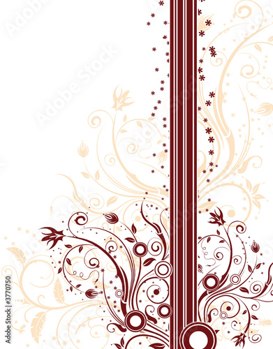 Abstract floral background with circles, vector illustration