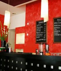 elegant wine bar with  wine list