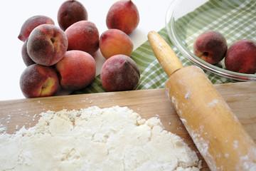 peach pie preparation