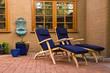 Leinwanddruck Bild - Relaxing courtyard