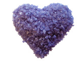 Lavender bath crystals heart