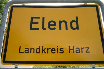 Elend (kurioser Ortsname, Schild)