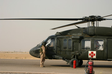 Medevac Helciopter in Iraq