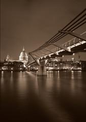 Millenium Bridge- B&W, Sepia