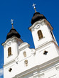 Two towers of Tihany Abbey's church