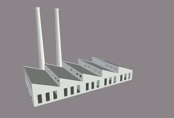 Fabrik mit Kaminen