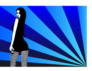 Miss White Stripes - Blue -