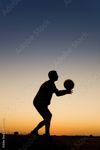 football at sunset