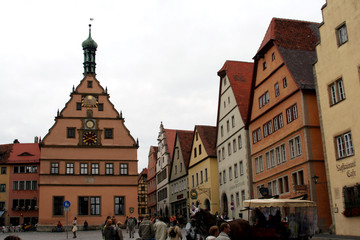 Town Square, Rothenburg ob der Tauber, medieval old town