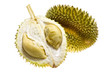 Tropical fruit - Durian isolated on white background..