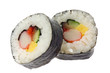 Japanese food - Futomaki isolated on white background..