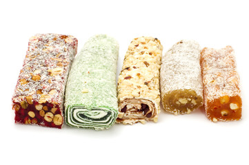 series object on white - food Turkish delight