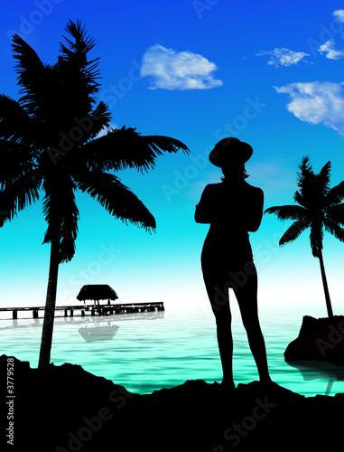 fille sexy sur la plage