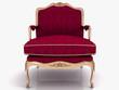 3d glamour armchair