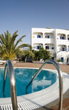greek islands hotel swimming pool  classic  architecture poster