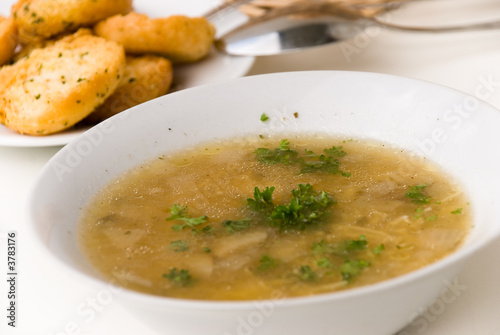 Beef Soup with Slices of Beef - 3783176