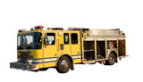 fire department pumper rescue truck isolated  poster