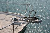 Sail boat bow poster