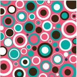 Aqua, Pink and Brown Circles