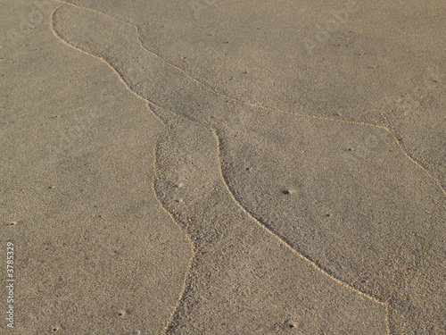 Sand Tracings on Beach, Low Tide
