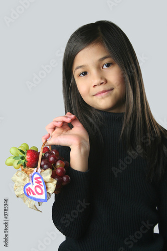 Child with Small Fruit Basket