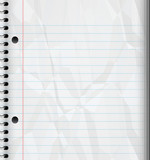 a large image of a ruled or lined spiral bound writing pad poster