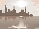 Seaside city poster