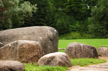 Museum of stones in Lithuania.