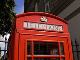 Red Telephone box, Spitalfields, London UK
