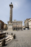 rome italy piazza colonna plaza with historic   monument   poster